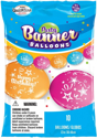 "Picture of 12"" Party Banner Balloons 10 Count Happy Birthday  (10/bag)"