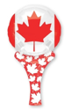 "Picture of 12"" INFLATE A FUN ( Canadian Flag Wand )"