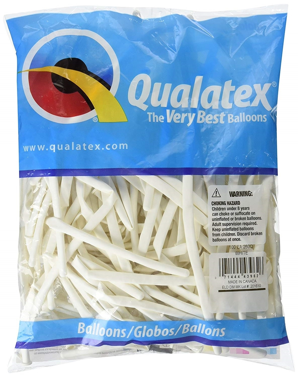 Picture of 260Q Qualatex - White (100/bag)