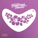 Picture of Art Factory Boomerang Stencil - Hibiscus Crown (B004)