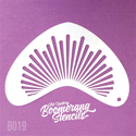 Picture of Art Factory Boomerang Stencil - Sunburst (B019)