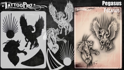 Picture of Tattoo Pro Stencil -  Pegasus  (ATPS187)