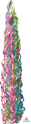 Picture of Twirlz Tissue Balloon Tail 34'' - Jewel Tones (1 pc)