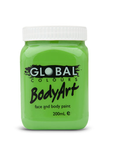 Picture of Global  - Liquid Face and Body Paint  - Lime Green (Light) - 200ml