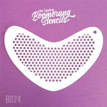 Picture of Art Factory Boomerang Stencil - Small Stars (B024)