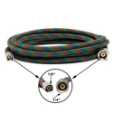 "Picture of Iwata 10' (3m) Braided Nylon Covered Airbrush Hose with Iwata 1/8"" Airbrush Fitting and 1/4"" Compressor Fitting ( BT010 )"
