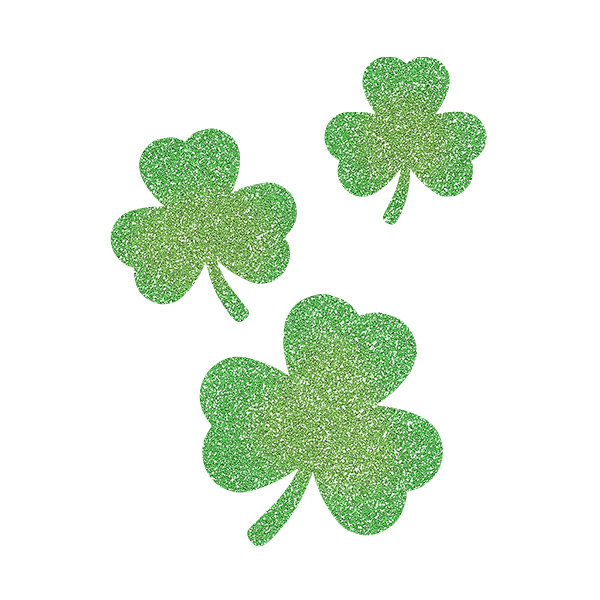 Picture of Cascading Three-Leaf Clovers Glitter Tattoo Stencil - HP (5pc pack)