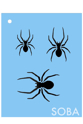 Picture of Long Spider Stencil - SOBA-79