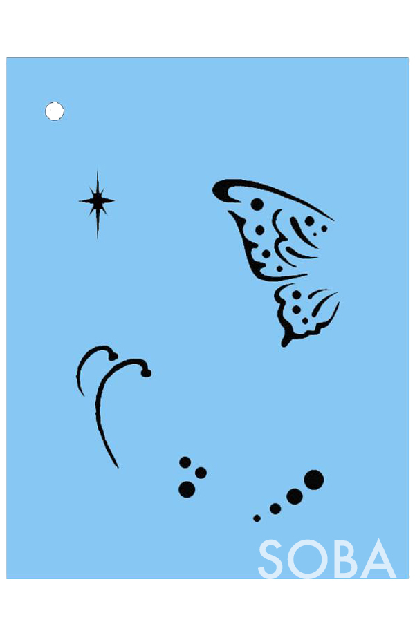 Picture of Mini Butterfly Wings Stencil - SOBA-80