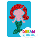 Picture of Baby Mermaid Glitter Tattoo Stencil - HP-116 (5pc pack)