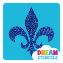 Picture of Fleur De Lis Stencil Glitter Tattoo Stencil - HP (5pc pack)