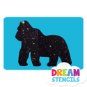 Picture of Gorilla Glitter Tattoo Stencil - HP-10 (5pc pack)