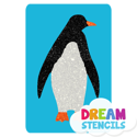 Picture of Penguin Glitter Tattoo Stencil - HP-14 (5pc pack)