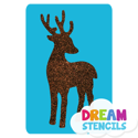 Picture of Deer Glitter Tattoo Stencil - HP-24 (5pc pack)