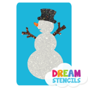 Picture of Snowman Glitter Tattoo Stencil - HP-28 (5pc pack)