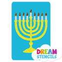 Picture of Menorah Glitter Tattoo Stencil - HP-37 (5pc pack)