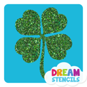 Picture of Four-Leaf Clover Glitter Tattoo Stencil - HP (5pc pack)