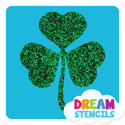 Picture of Three-Leaf Clover (Shamrock) Glitter Tattoo Stencil - HP-52 (5pc pack)