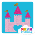 Picture of Dream Castle Glitter Tattoo Stencil - HP-59 (5pc pack)