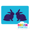 Picture of Twin Bunnies Glitter Tattoo Stencil - HP (5pc pack)