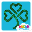Picture of Celtic Shamrock Glitter Tattoo Stencil - HP-44 (5pc pack)