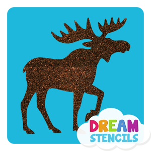 Picture of Moose Glitter Tattoo Stencil - HP (5pc pack)
