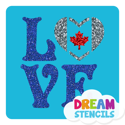 Picture of Love Canada Glitter Tattoo Stencil - HP (5pc pack)