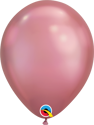 "Picture of 7"" Qualatex Chrome Mauve round balloons - (100/bg)"