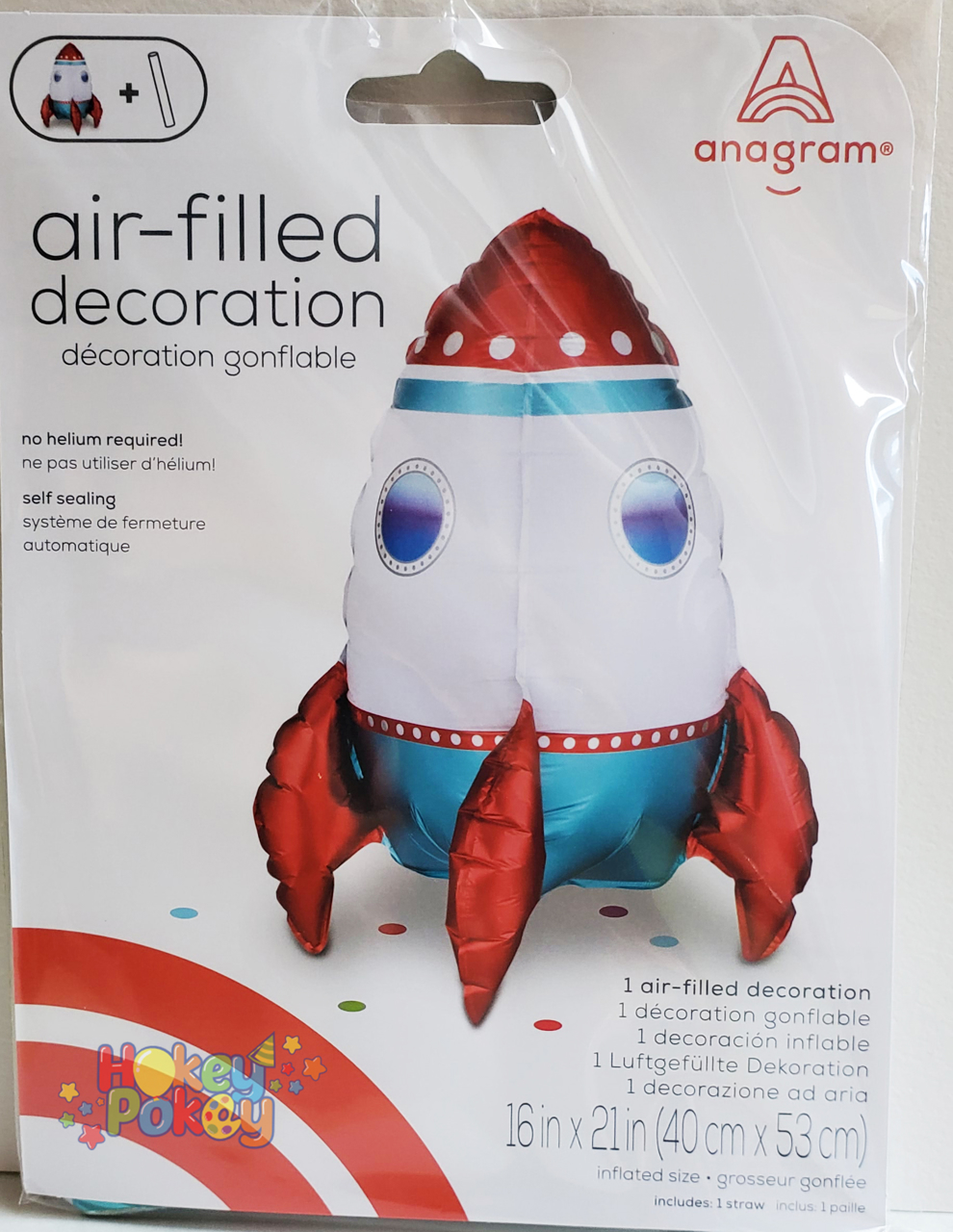 Picture of Air-Filled Decoration Rocket Ship  (1pc)