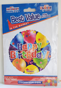 "Picture of 18"" Kaleidoscope Happy Birthday Balloon - Foil Balloon (1pc)"
