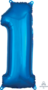Picture of 26'' Mid-Size Shape Number 1 - Blue (1pc)