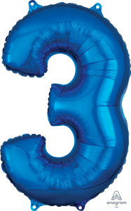 Picture of 26'' Mid-Size Shape Number 3 - Blue (1pc)