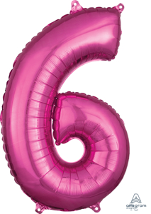 Picture of 26'' Mid-Size Shape Number 6 - Pink (1pc)