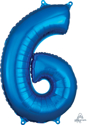 Picture of 26'' Mid-Size Shape Number 6 - Blue (1pc)