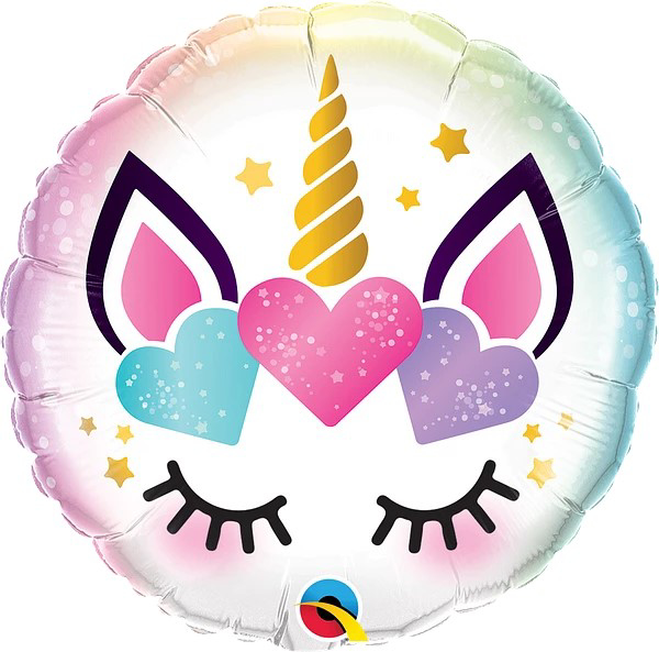 Picture of 18'' Unicorn Eyelashes Foil Ballon (1pc)
