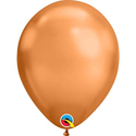 "Picture of 11"" Chrome Copper round balloons - 100 count"