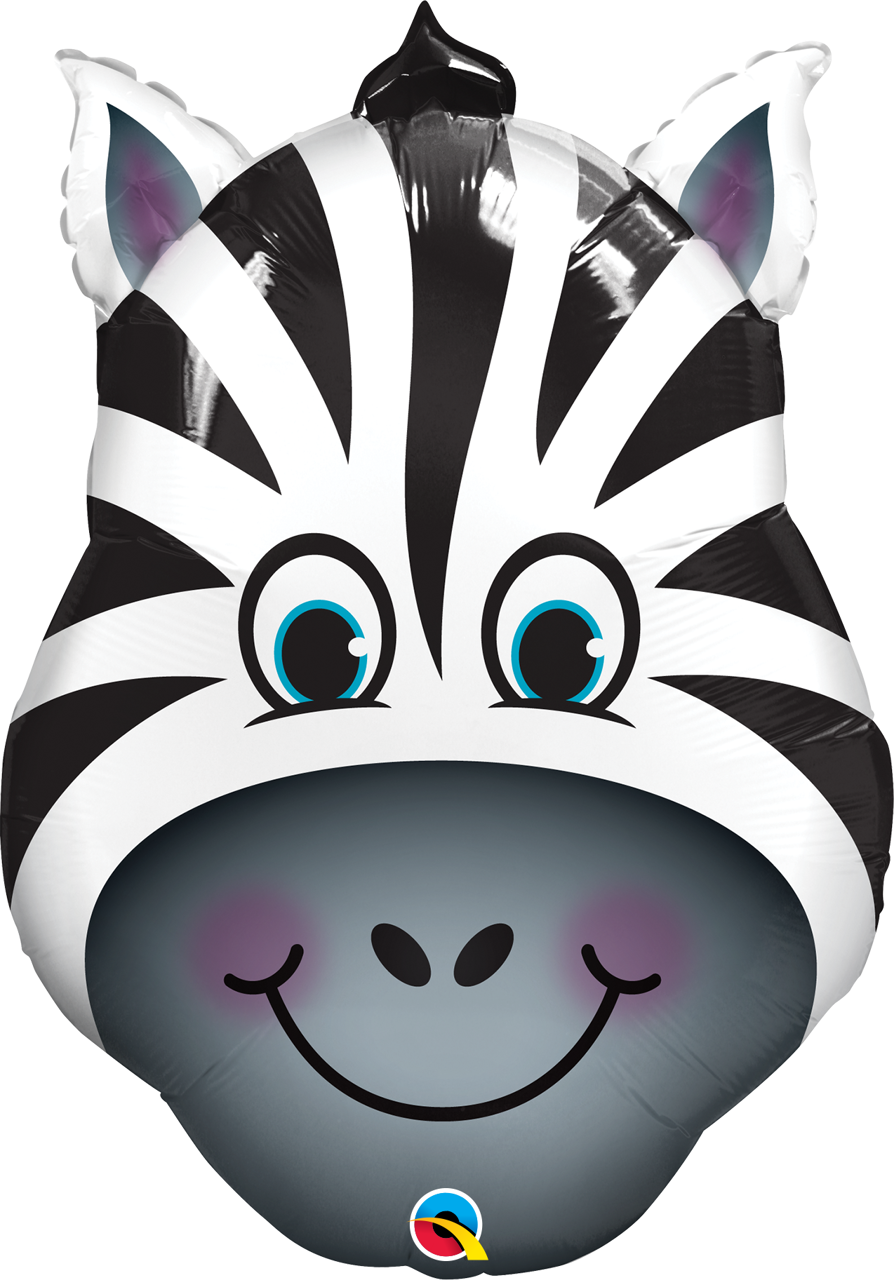 "Picture of 32"" Zany Zebra Foil Balloon (1pc)"