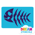 Picture of Fish Bones Glitter Tattoo Stencil - HP-142 (5pc pack)