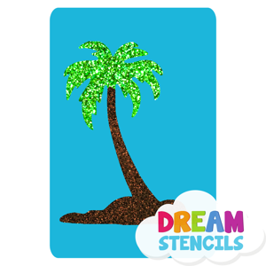 Picture of Single Palm Tree Glitter Tattoo Stencil - HP (5pc pack)