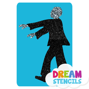 Picture of Walking Zombie Glitter Tattoo Stencil - HP (5pc pack)