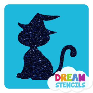 Picture of Wicked Cat Glitter Tattoo Stencil - HP (5pc pack)