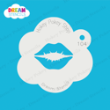 Picture of Kissing Lips - Dream Stencil - 104