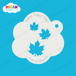 Picture of Cascading Fancy Maple Leaves - Dream Stencil - 135