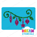 Picture of Hanging Ornaments Glitter Tattoo Stencil - HP-22 (5pc pack)