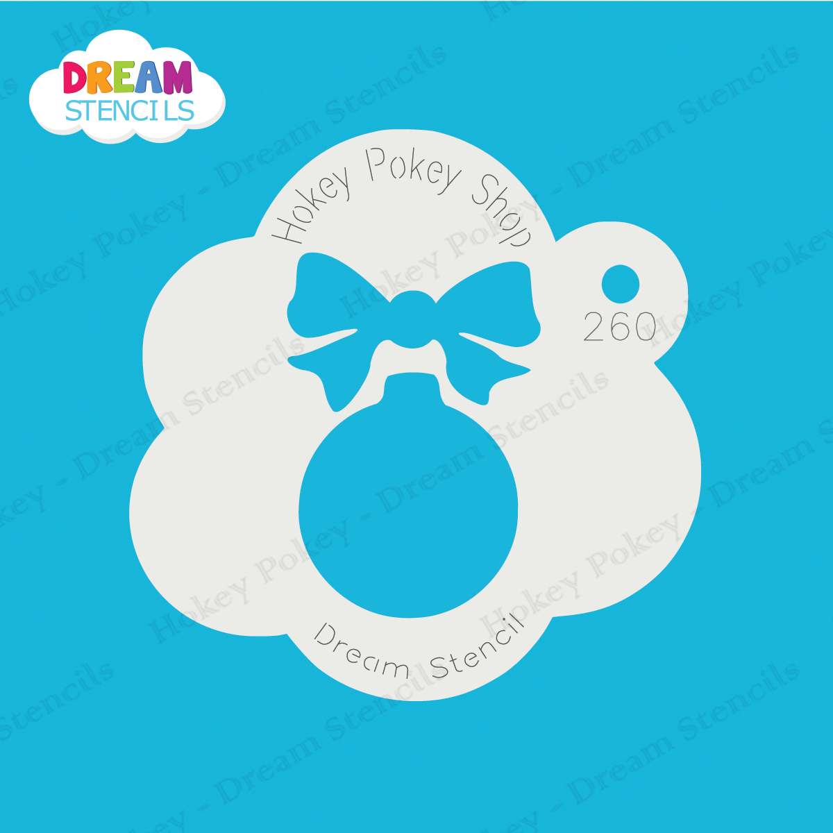Picture of Christmas Ornament with Bow - Dream Stencil - 260