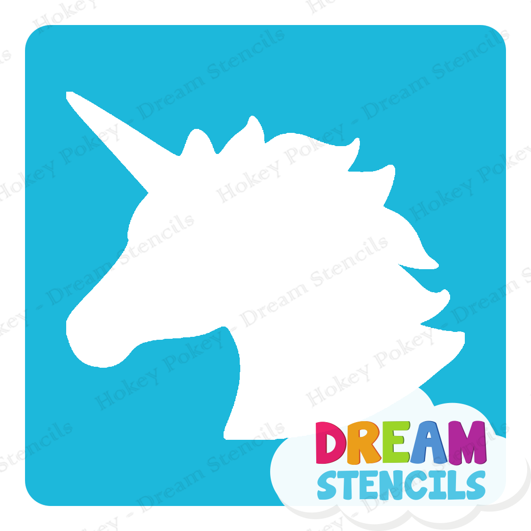 Picture of Unicorn Glitter Tattoo Stencil - HP-281 (5pc pack)