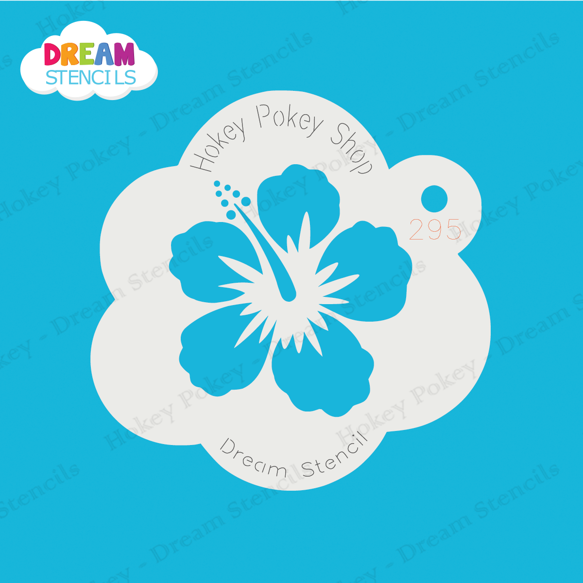 Picture of Hibiscus Flower - Dream Mylar Stencil - 295