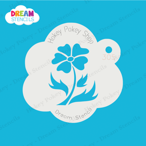 Picture of Heart Flower - Dream Mylar Stencil - 305