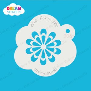 Picture of Ornamental Flower - Dream Mylar Stencil - 308