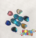 Picture of Mermaid Scaled Hearts and Round Gems - Ocean Assortment - 10mm (AG-MER4) (10pc)